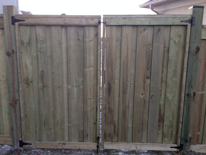 Full Privacy Premium Pressure Treated Wood Fence 6 By 6