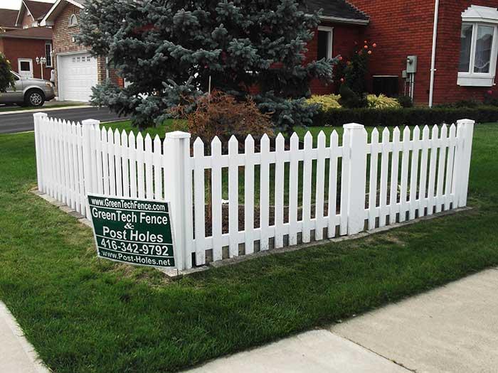 Picket vinyl fencing toronto wholesale fence