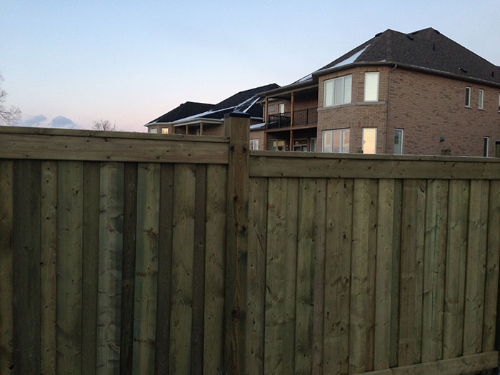 6 by 6 Full Privacy Vinyl Fencing Installed by Wholesalefence.ca