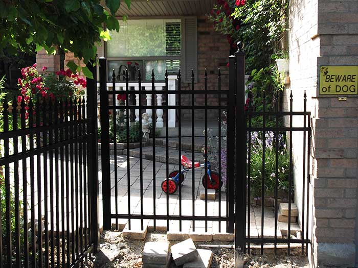 Aluminum-Fencing-Gate-Installation-in-Etobicoke by wholesalefence.ca