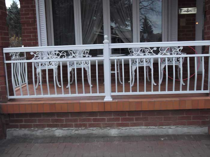 Aluminum-Fencing-Installation-around-the-Porch-in-Woodbridge-Ontario by wholesalefence.ca