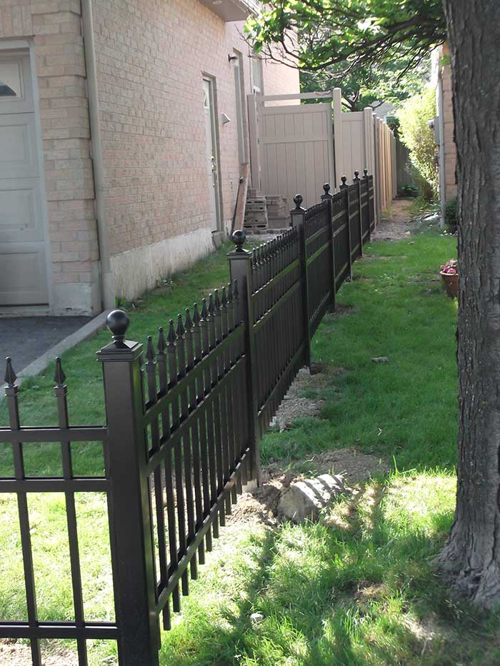 Aluminum-Fencing-Installed--in-Etobicoke by wholesalefence.ca