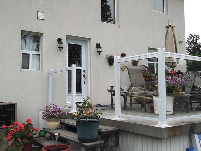Aluminum-&-Glass-Railing-Installation-for-Backyard-Deck-in-Markham by Fence Direct