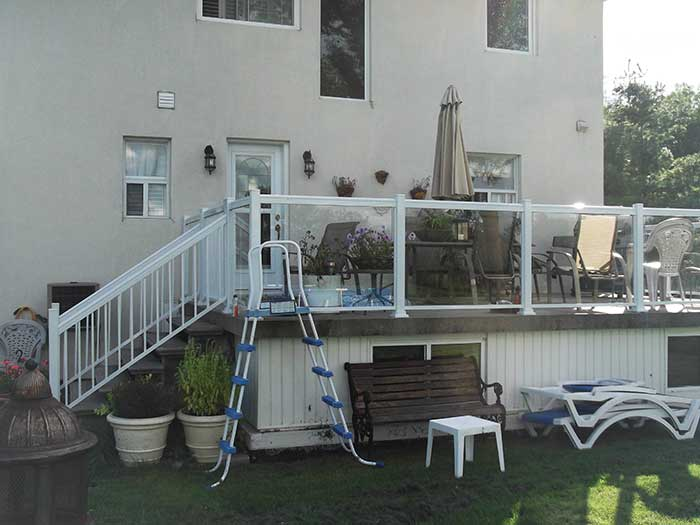 Aluminum-Glass-Railing-Installation-for-Backyard-Deck-in-Markham by wholesalefence.ca