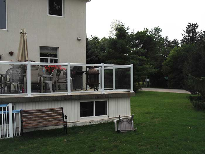 Aluminum-Glass-Railing-Installation-for-Deck-in-Markham by wholesalefence.ca