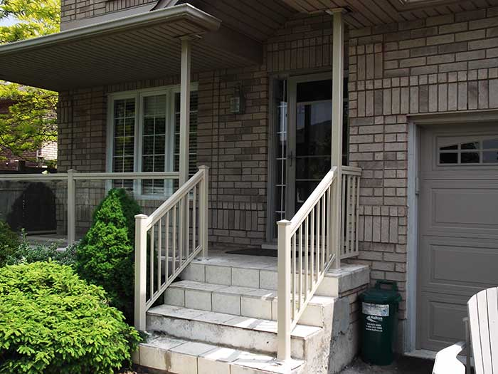 Aluminum-&-Glass-Railing-Installation-in-New-Home--Hamilton by Fence Direct