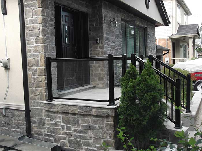 Aluminum-Glass-Railing-Installation-in-New-Market-Ontario by wholesalefence.ca