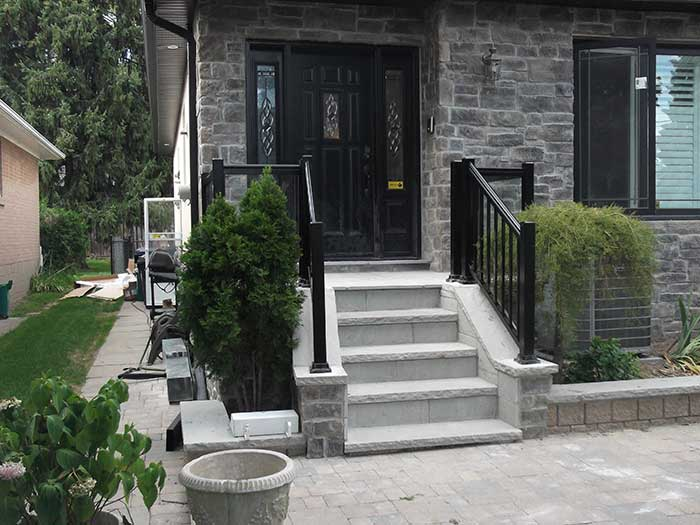 Aluminum-Glass-Railing-Installation-in-New-Market by wholesalefence.ca
