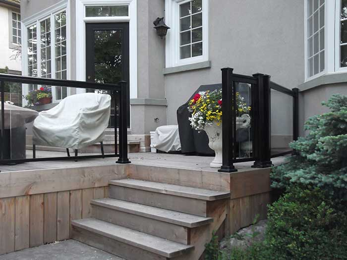 Aluminum-&-Glass-Railing-Installation-in-Richmond-Hill by Fence Direct
