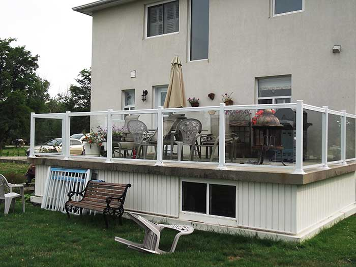 Aluminum-Glass-Railings-Installation-for-Backyard-Deck-in-Markham-Ontario by wholesalefence.ca