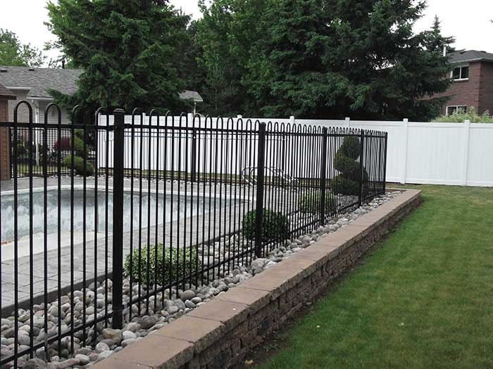 Aluminum-Pool-fencing-&-Vinyl-Backyard-Fencing-in-Thornhill by wholesalefence.ca
