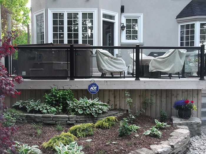 Aluminum-Railing-&-Glass-Installation-in-Custom-Build-Home-in-Richmond-Hill by wholesalefence.ca