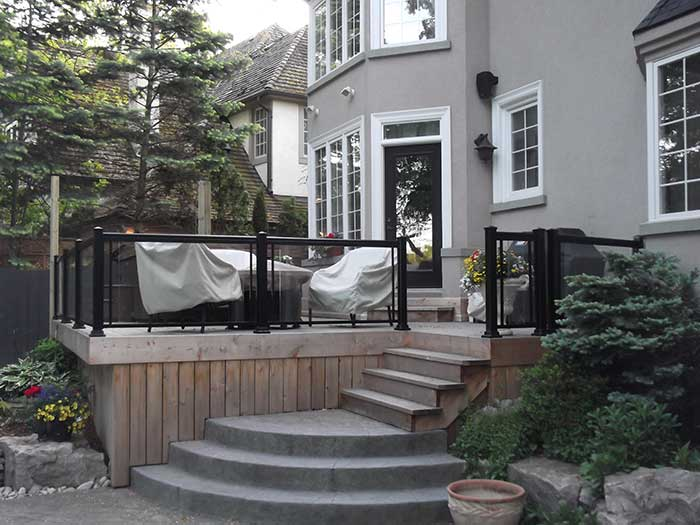 Aluminum-Railing-&-Glass-Installation-in-Custom-Home---Richmond-Hill by wholesalefence.ca