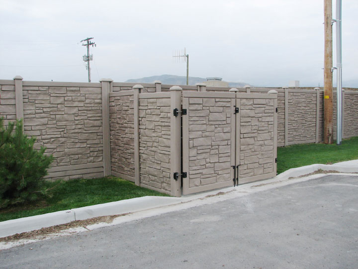 Commercial Simulated Stone Gate, By wholesalefence.ca