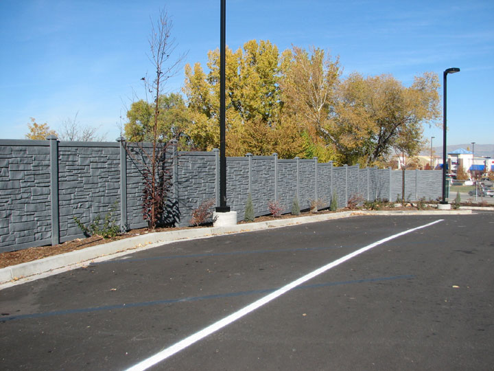 Commercial, Simulated Stone Vinyl Fencing By wholesalefence.ca