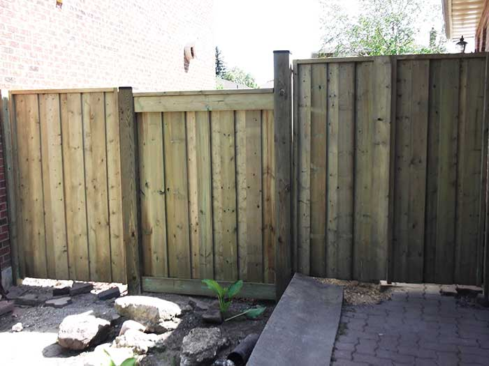 Full-Privacy-4X4 Wood-Fencing-Installed by Wholesalefence.ca in-Markham-Ontario