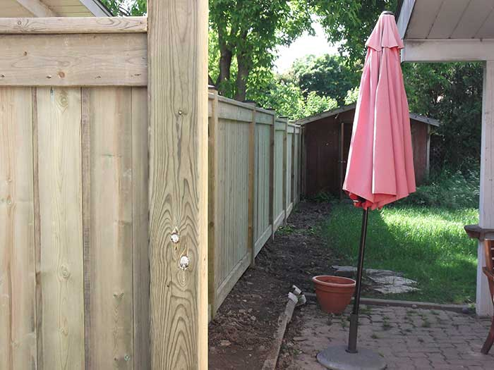 Full-Privacy-4X4 Wood-Fencing-insttaled by Wholesalefence.ca in-Brampton-Ontario