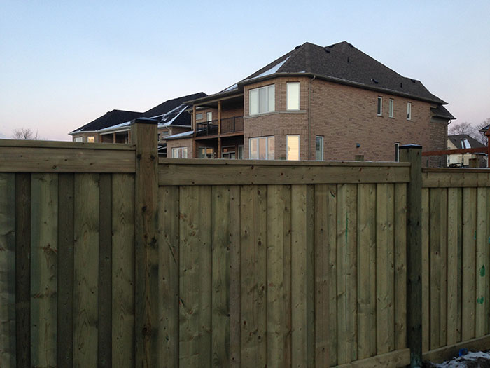 Full Privacy 6 by 6 Wood Fence installed by Wholesalefence.ca