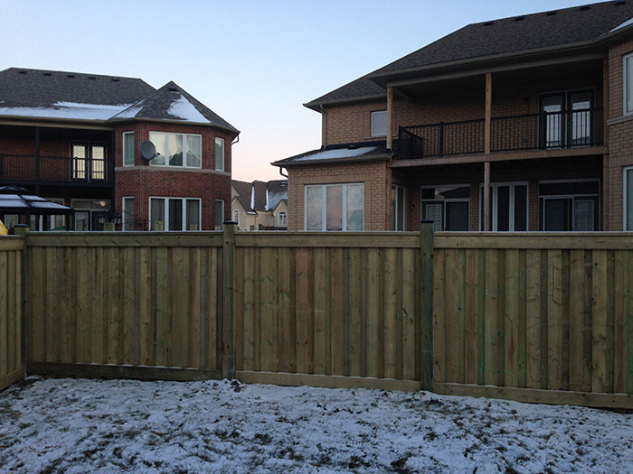 Full Privacy 6 by 6 Wood Fencing installation by Wholesalefence.ca