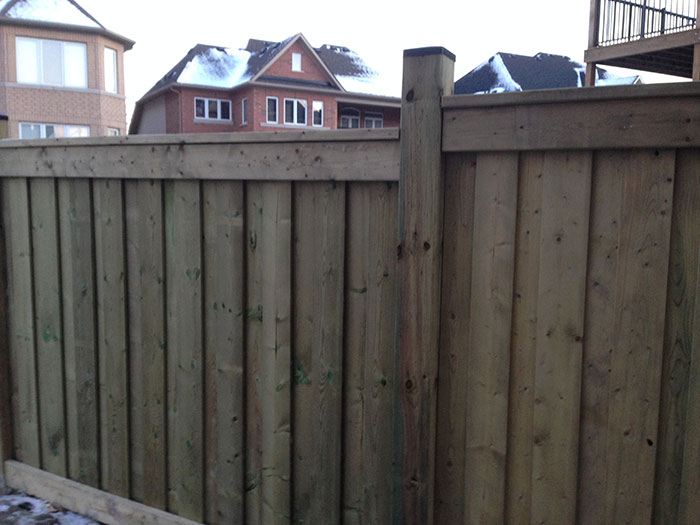 Full Privacy Premium Pressure Threaded Wood Fence-6 by 6 by Wholesalefence.ca