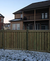 Full Privacy Premium Pressure Threaded Wood Fence-6X6 by Wholesalefence.ca