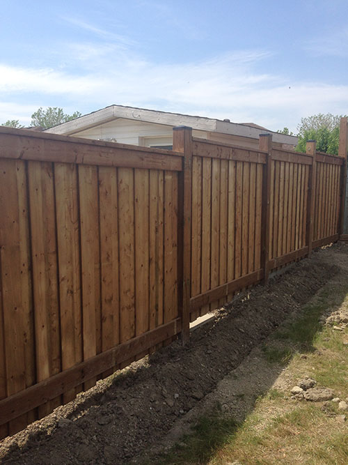 Full Privacy Pressure Treated Wood Fence installed by Wholesale Fence