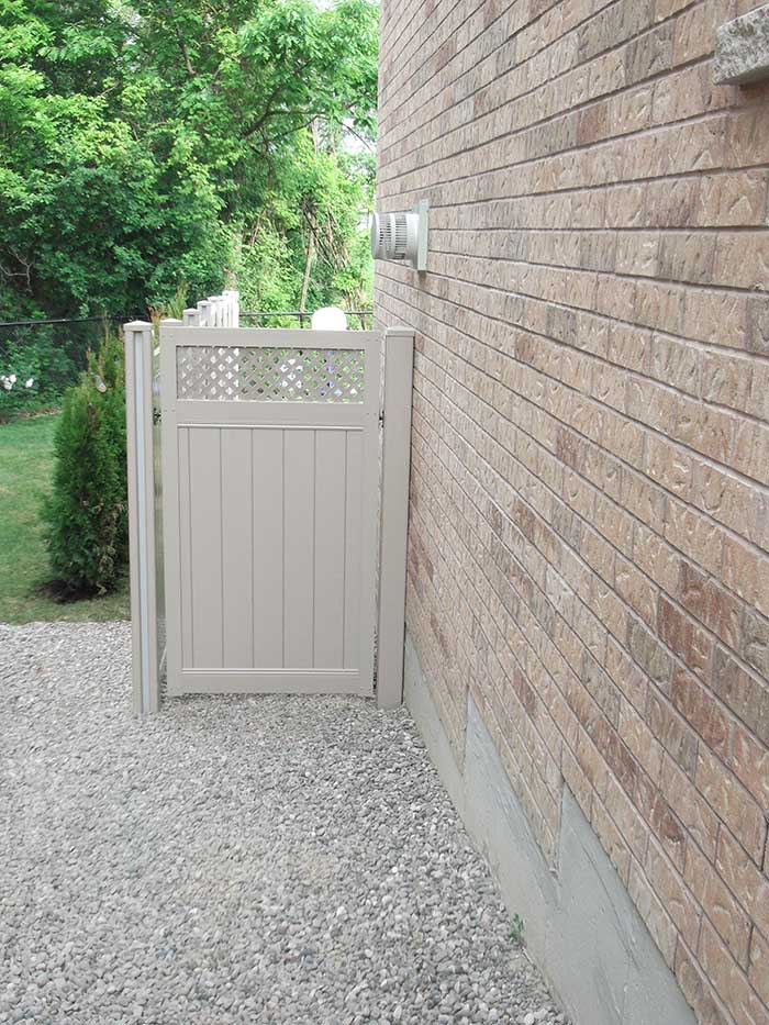 Full-Privacy-Vinyl-Fencing-Gate-Installation---Burlington-Ontario by Fence Direct