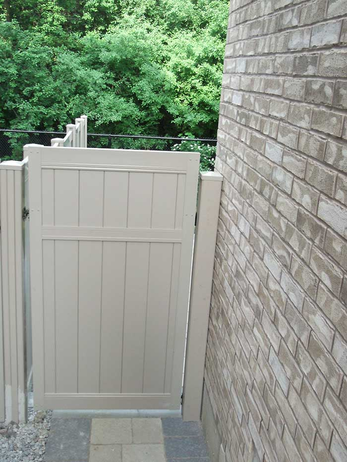 Full-Privacy-Vinyl-Fencing-Gate-Installation---Burlington by Fence Direct