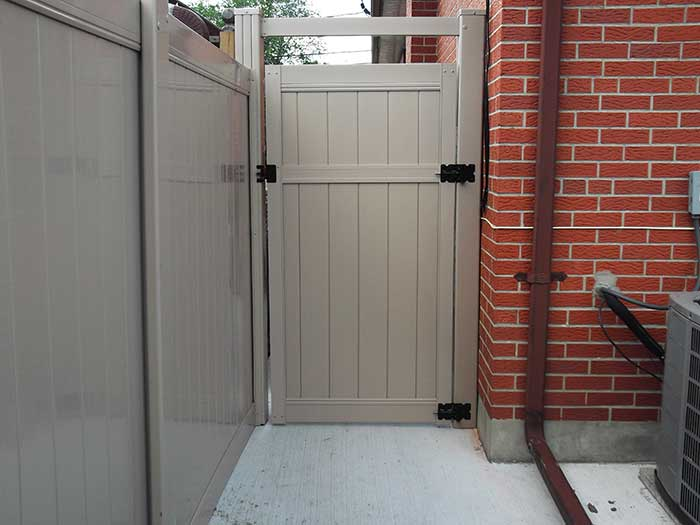 Full-Privacy-Vinyl-Fencing-Gate-Installed-in-Etobicoke-Ontario by Fence Direct