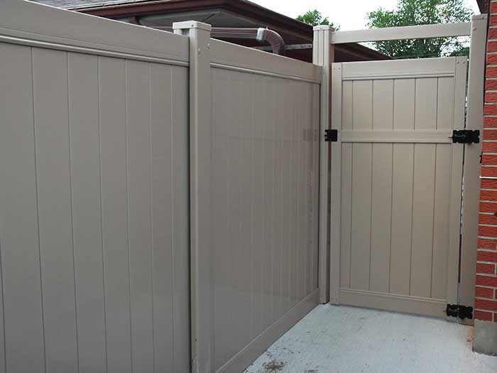 Full-Privacy-Vinyl-Fencing-Gate-Installed-in-Etobicoke by Fence Direct