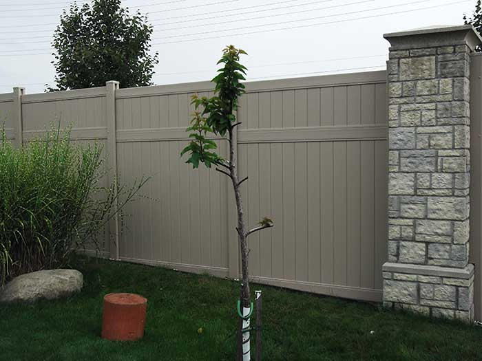 Full-Privacy-Vinyl-Fencing-Installation-in-Oshawa-Ontario by Fence Direct