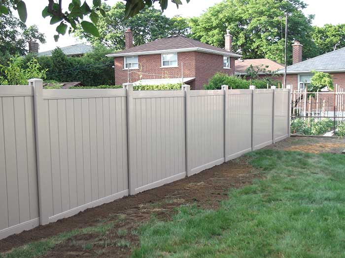 Full-Privacy-Vinyl-Fencing-&-Post-Hole-Installation-in-New-Market - by Fence Direct