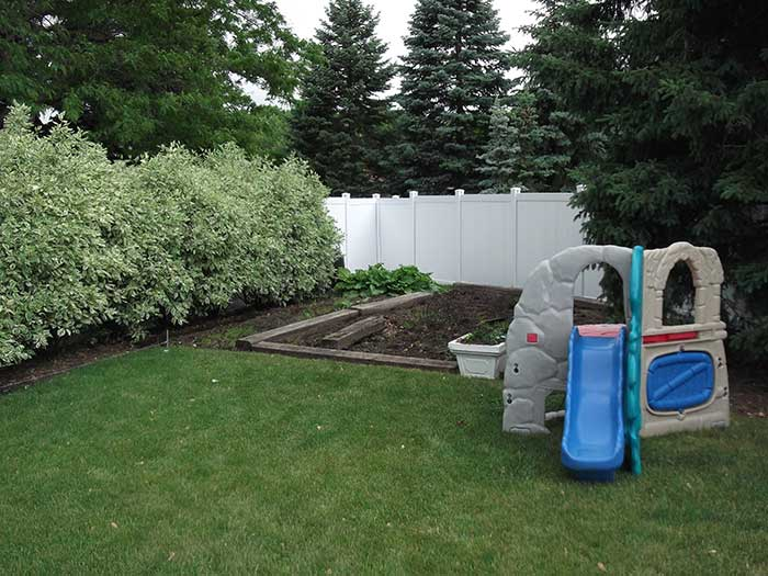 Full-Privacy-Vinyl-Fencing-&-Post-Holes-Installed-in-Thornhill by Fence Direct