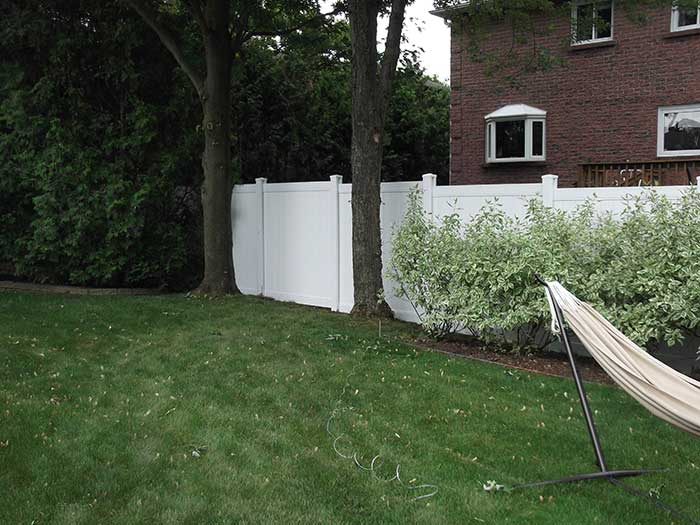 Full-Privacy-Vinyl-Fencing-and-Post-Holes-Installed-in-Thornhill by Fence Direct