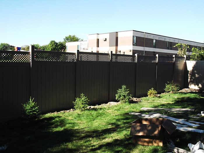 Full-Privacy-Vinyl-Fencing-with-Latice-Installation-in-Scarbourough by wholesalefence.ca