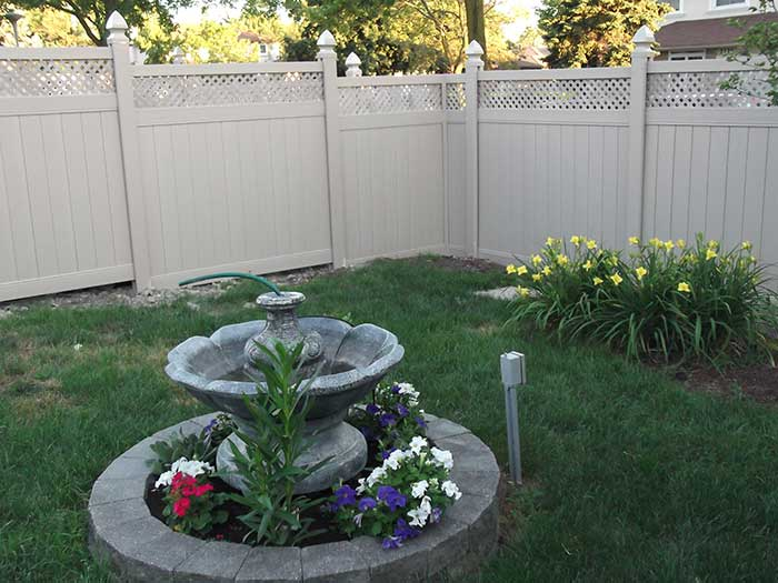 Full-Privacy-Vinyl-Fencing-with-Latice-Installed-in-Richmond-Hill by wholesalefence.ca