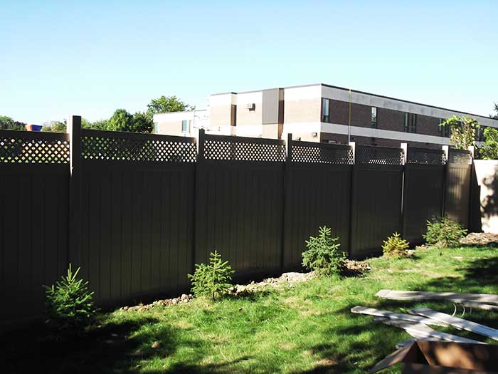 Full-Privacy-Vinyl-Fencing-with-Latice-Installed-in-Scarbourough-Ontario by wholesalefence.ca