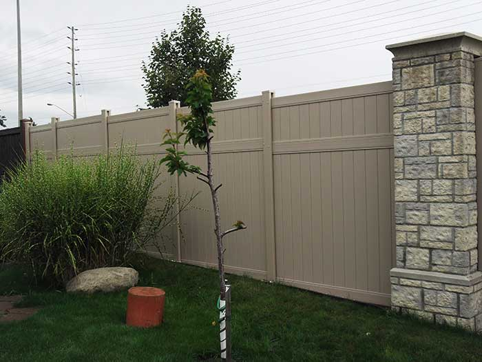 Full-Privacy-Vinyl-fencing-Installation-in-Oshawa by Fence Direct