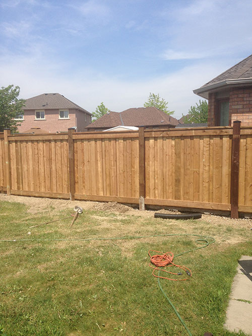 Full privacy wood fencing by wholesale fence Toronto