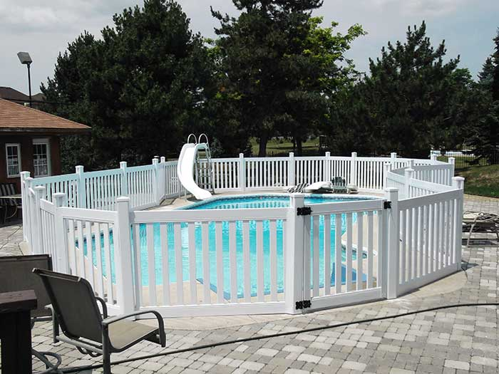 Pool-Safety-Fencing-Picket-installed-in-Woodbridge by wholesalefence.ca