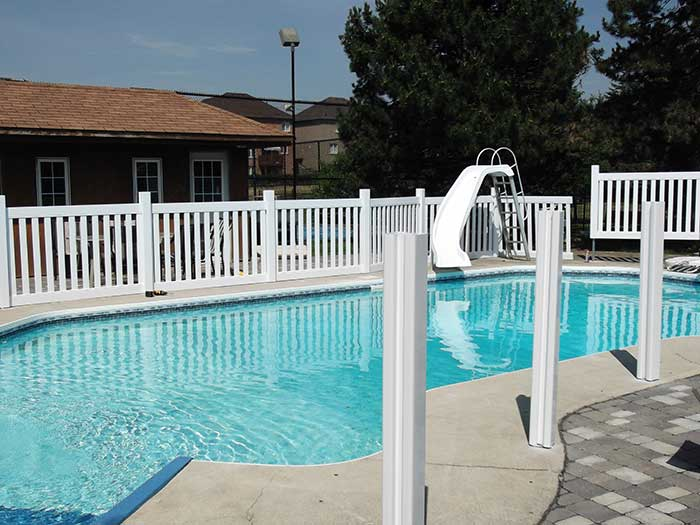 Pool-Vinyl-Safety-Fencing-withPicket-Installed--in-Woodbridge by wholesalefence.ca