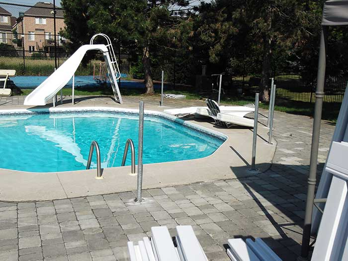 Pool-Vinyl-Safety-Fencing-withPickets-during-the-installation--in-Woodbridge by wholesalefence.ca