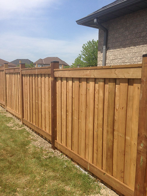 Pressure Treated Wood Fence installed in Richmond Hill