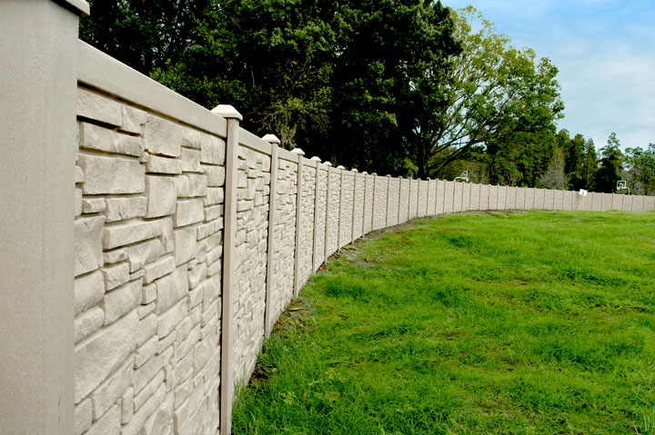 Residential Simulated Stone Vinyl Fencing By wholesalefence.ca