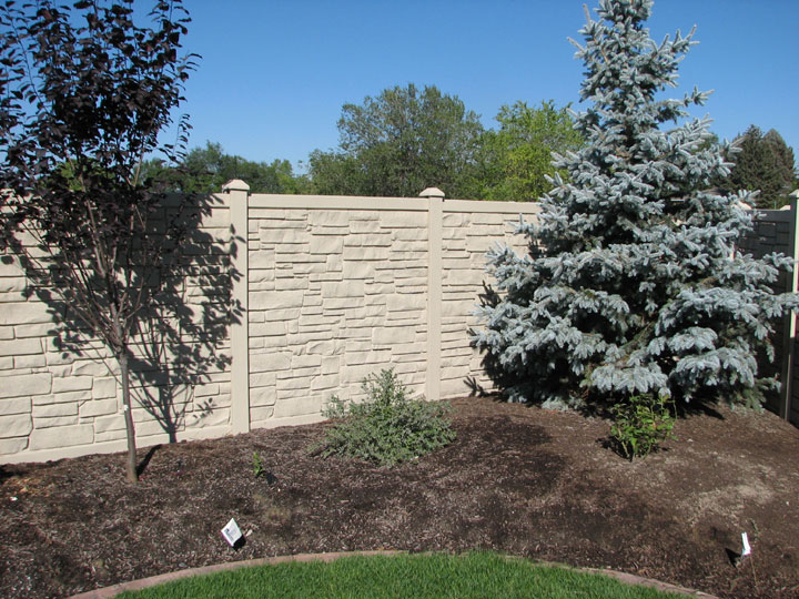 Residential Simulated Stone Vinyl Fencing installation By wholesalefence.ca in Burlington