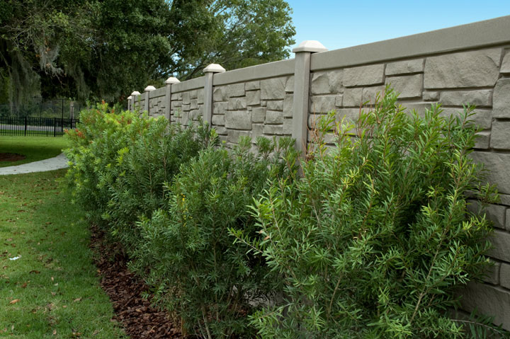 Residential Simulated Stone Vinyl Fencing installations By wholesalefence.ca