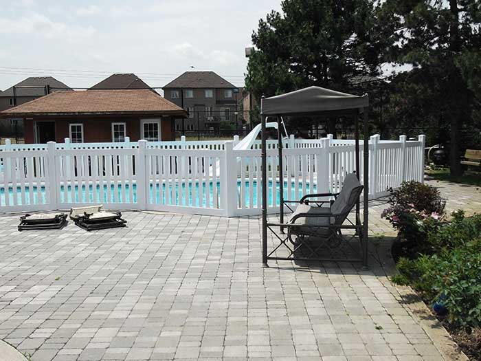 Safety-Picket-Installations-around-a-Pool-in-Woodbridge by wholesalefence.ca