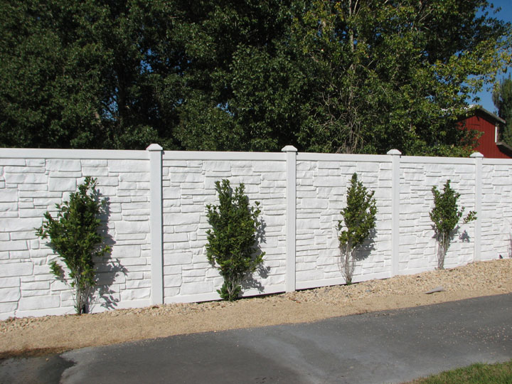 Simulated Stone Residential Vinyl Fencing Installed By wholesalefence.ca