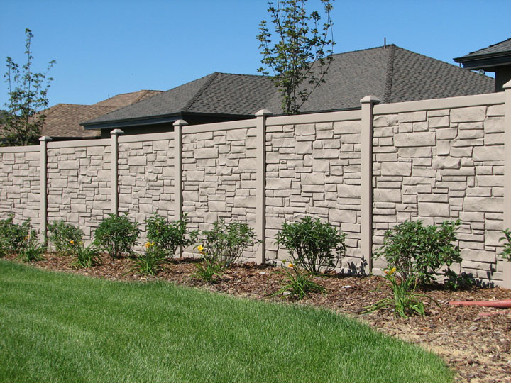 Simulated Stone Vinyl Fencing installation in Burlington By wholesalefence.ca