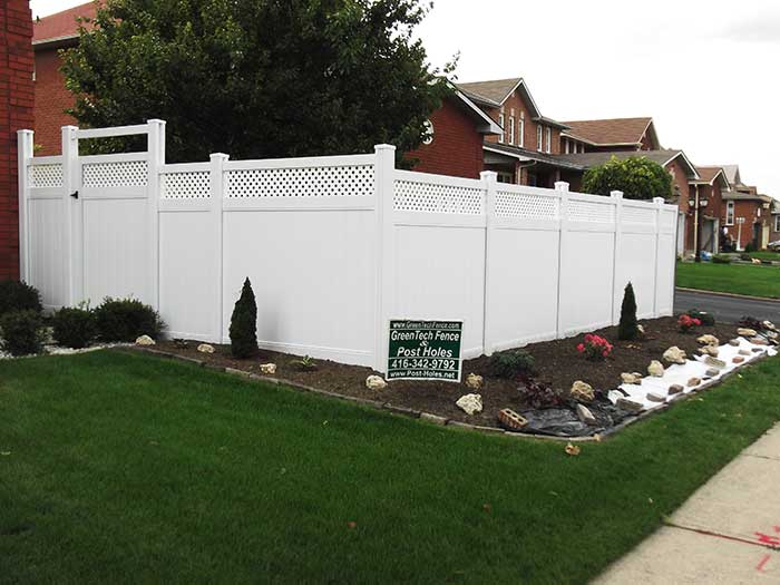 Vinyl-Fencing-with-Latice-&-Gate-Installation-in-Scarbourough---Street-View by wholesalefence.ca